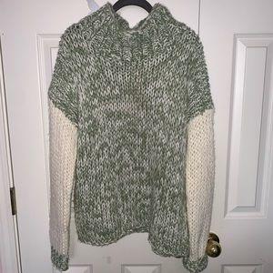 Colorblock Mock Sweater